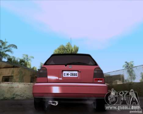 Volkswagen Golf MK3 VR6 for GTA San Andreas back left view