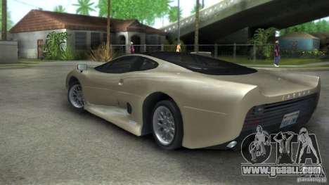 Jaguar XJ 220 Black Rivel for GTA San Andreas left view