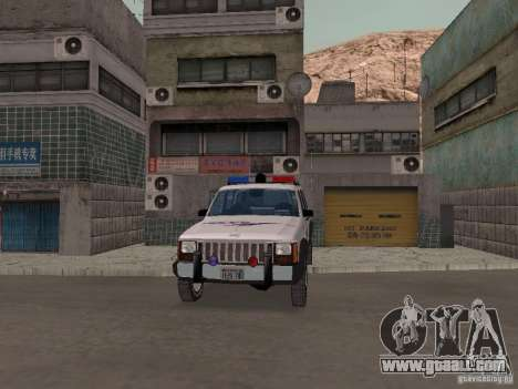 Jeep Cherokee Police 1988 for GTA San Andreas inner view