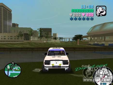 VAZ 2107 for GTA Vice City back view