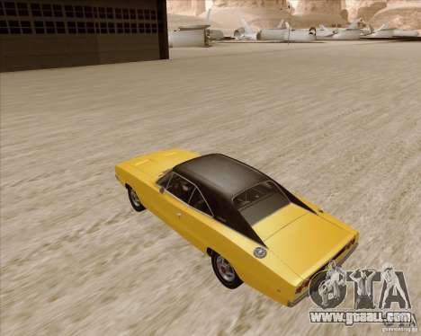 Dodge Charger RT 1968 Bullit clone for GTA San Andreas back left view