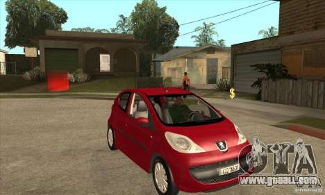 Peugeot 107 for GTA San Andreas back view