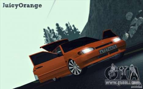 Ваз 2114 Juicy Orange for GTA San Andreas inner view
