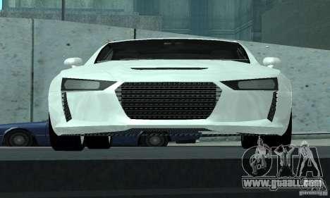 Audi Quattro Concept 2013 for GTA San Andreas upper view