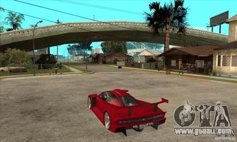 Alfa Romeo Tipo 33 GTI for GTA San Andreas back left view