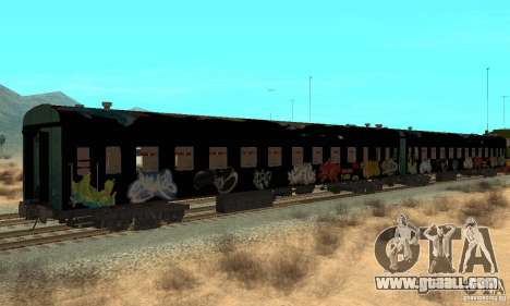 Custom Graffiti Train 1 for GTA San Andreas right view