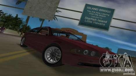 BMW 5S Touring E39 for GTA Vice City inner view