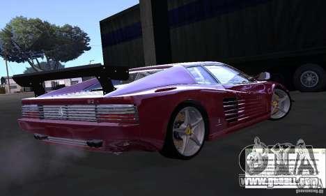 Ferrari 512 TR for GTA San Andreas left view