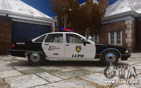 Chevrolet Caprice 1991 Police for GTA 4 inner view
