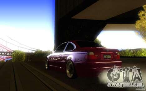 BMW M3 E46 V.I.P for GTA San Andreas back view
