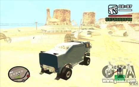 MAN TGA for GTA San Andreas left view