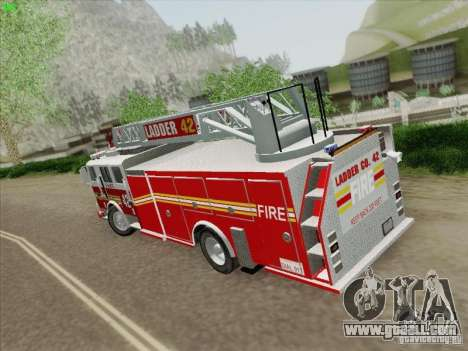 Seagrave Ladder 42 for GTA San Andreas right view