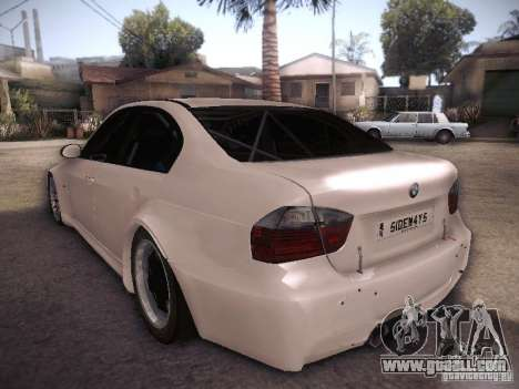 BMW 320SI Drift for GTA San Andreas back left view