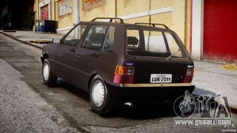 Fiat Uno 70SX 1989-1993 for GTA 4 side view