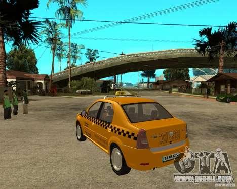 Dacia Logan Taxi Bucegi for GTA San Andreas back left view