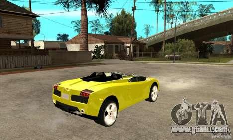 Lamborghini Concept S for GTA San Andreas inner view