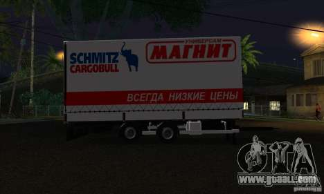 Trailer for Scania R620 for GTA San Andreas left view