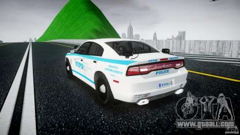 Dodge Charger NYPD 2012 [ELS] for GTA 4 back left view