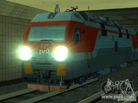 ÈP1M-392 OJSC «RUSSIAN RAILWAYS» for GTA San Andreas upper view