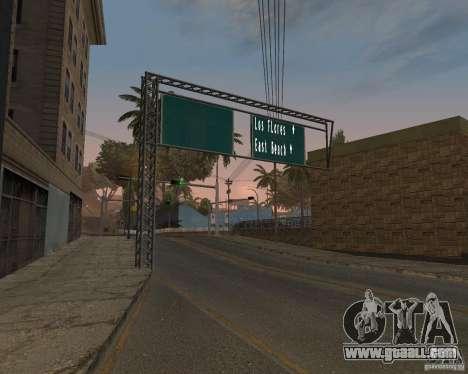 Road signs v1.0 for GTA San Andreas second screenshot