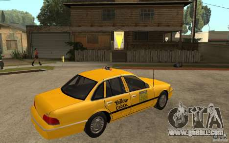 Ford Crown Victoria Taxi 1992 for GTA San Andreas right view