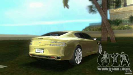 Aston Martin Rapide for GTA Vice City back left view