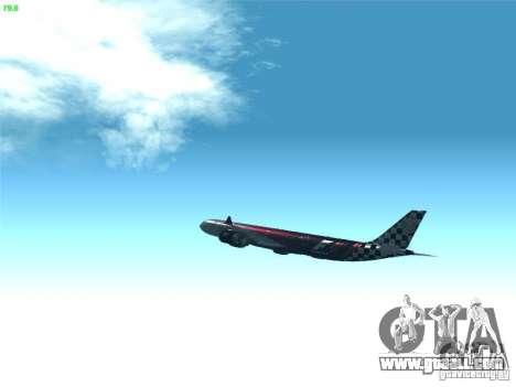 Airbus A340-600 Etihad Airways F1 Livrey for GTA San Andreas inner view