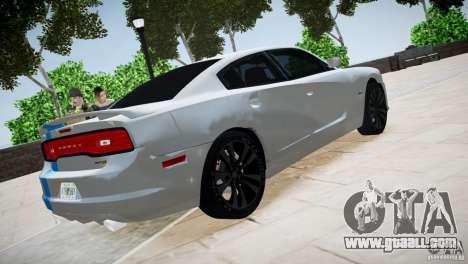 Dodge Charger SRT8 2012 for GTA 4 back view