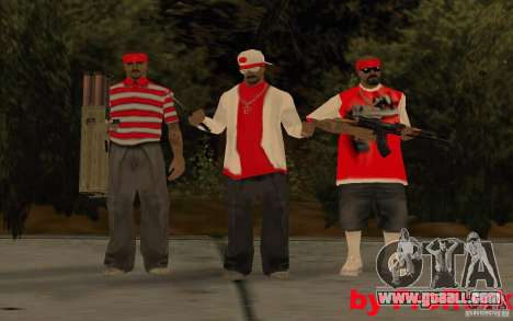 New skins of The Los Aztecas Gang for GTA San Andreas