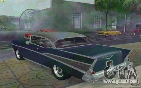 Chevrolet Bel Air 1957 for GTA San Andreas back left view