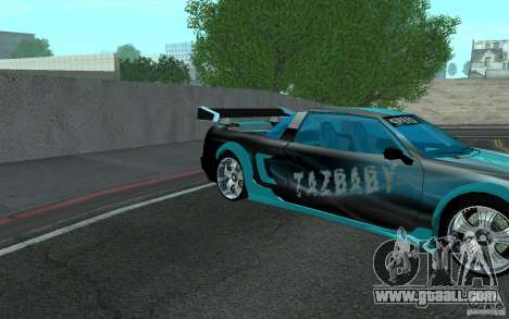 Baby blue Infernus for GTA San Andreas right view