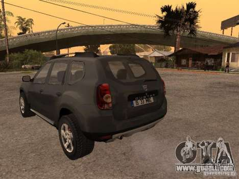 Dacia Duster for GTA San Andreas back view