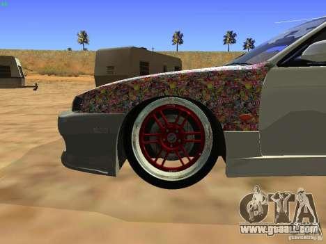 Nissan Silvia S14 JDM for GTA San Andreas inner view