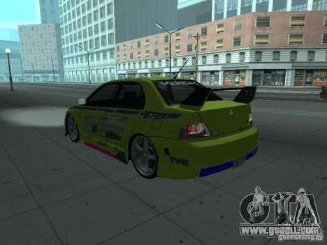 Mitsubishi Lancer Evolution 8 for GTA San Andreas engine