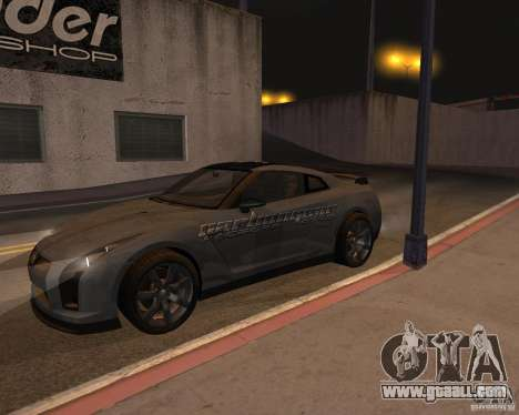 Nissan GT-R Pronto for GTA San Andreas upper view