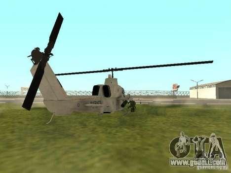 AH-1 Supercobra for GTA San Andreas back left view