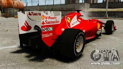 Ferrari F2012 for GTA 4 back left view