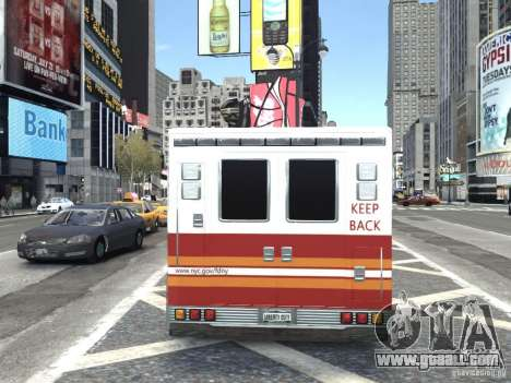 GMC C4500 Ambulance [ELS] for GTA 4 back left view