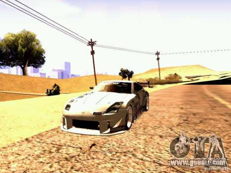 Nissan 350Z Avon Tires for GTA San Andreas