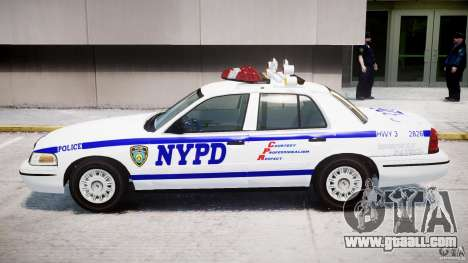Ford Crown Victoria NYPD for GTA 4 back left view