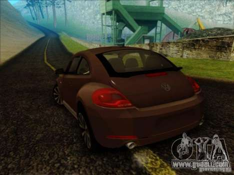 Volkswagen Beetle Turbo 2012 for GTA San Andreas left view