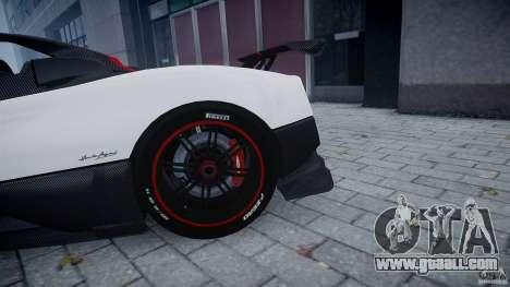 Pagani Zonda Cinque Roadster for GTA 4 inner view