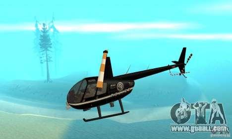 Robinson R44 Raven II NC 1.0 Black for GTA San Andreas