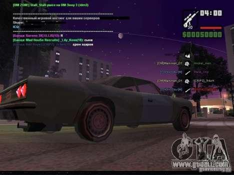 Starry sky v2.0 (for SA: MP) for GTA San Andreas seventh screenshot