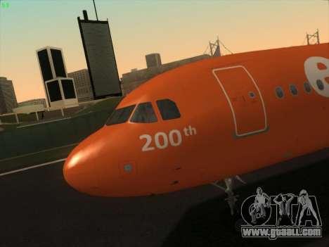 Airbus A320-214 EasyJet 200th Plane for GTA San Andreas interior