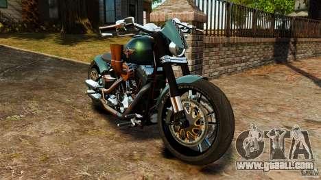 Harley Davidson Fat Boy Lo Racing Bobber for GTA 4