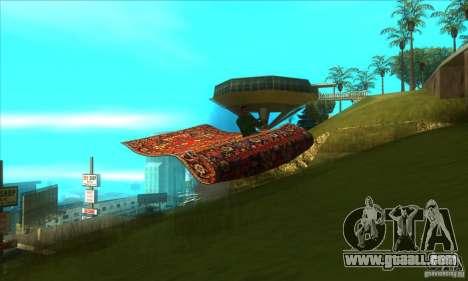 Flying Carpet v.1.1 for GTA San Andreas inner view