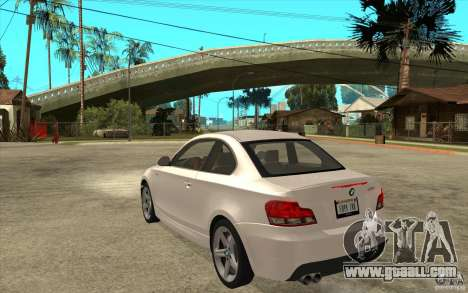 BMW 135i Coupe for GTA San Andreas right view