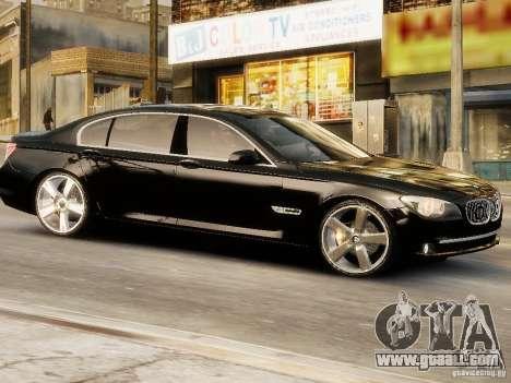 BMW 750 LI 2010 for GTA 4 back left view