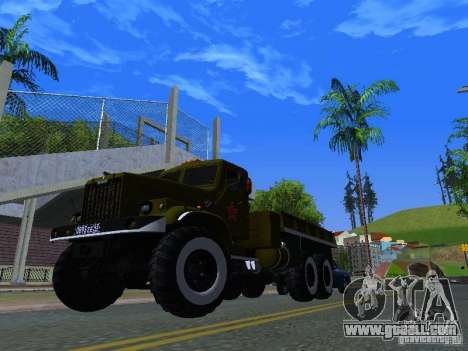 KrAZ truck Parade for GTA San Andreas inner view